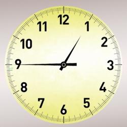 Часы настенные круглые металлические