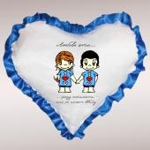 Подушка в форме сердца*